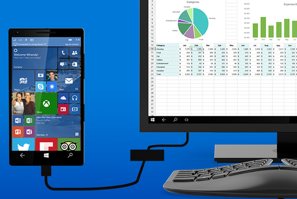 Функция Continuum Windows 10 Mobile