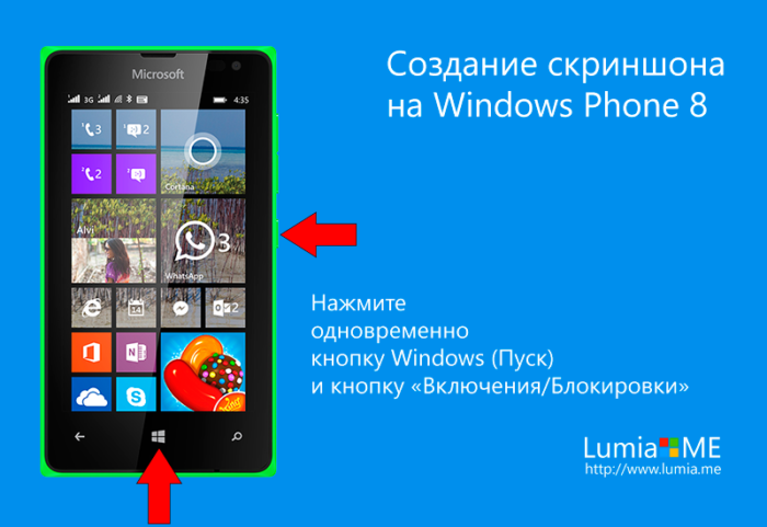 Создание скриншона на Windows Phone 8
