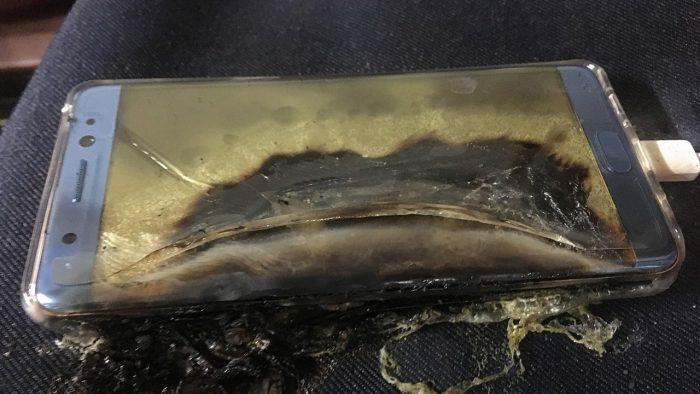 Samsung Galaxy Note 7 взорвался