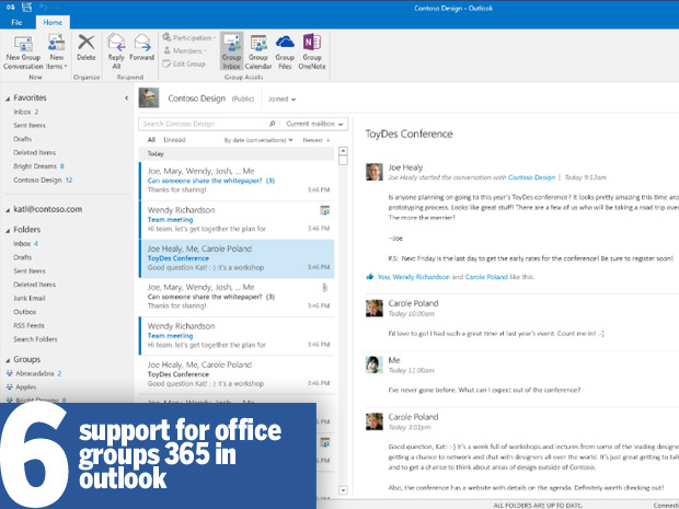 Поддержка Office Groups 365 в Outlook